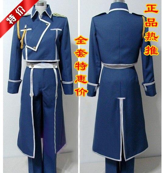 Hot Anime Fullmetal Alchemist Roy Mustang Uniforme Dell'esercito Set Completo Cosplay Costume S-XXL