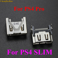 ChengHaoRan 1pcs For PlayStation 4 Pro PS4 Slim Display HDMI Socket Jack Connector Console Port Repair parts