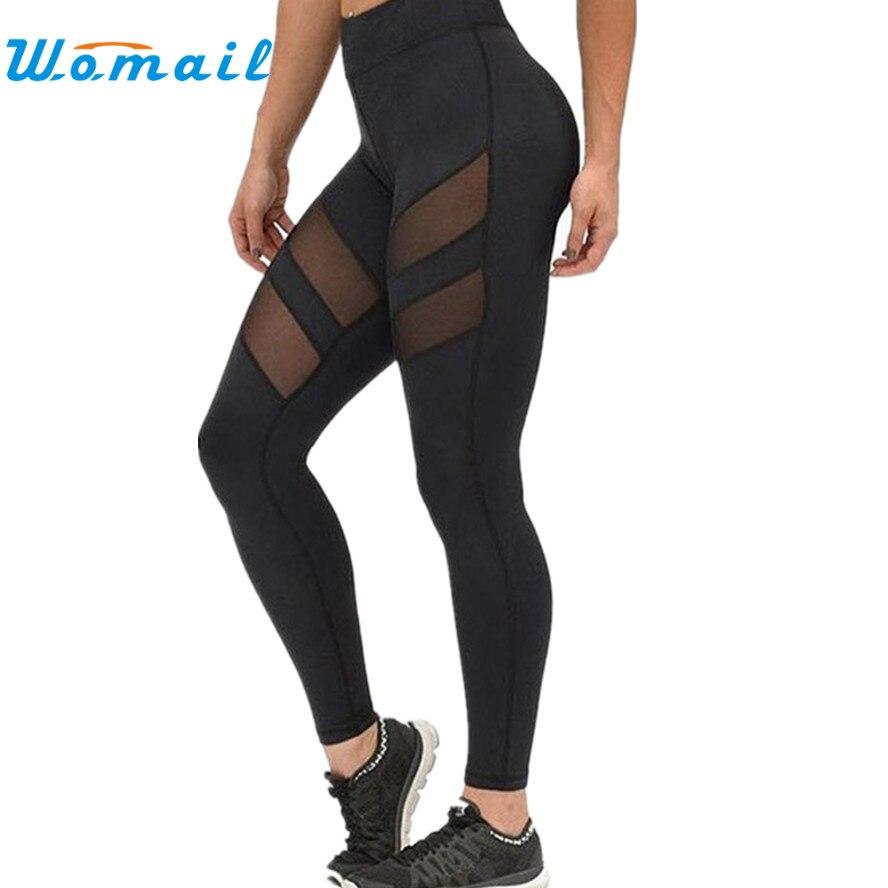 Prix pour Femmes Taille Haute Sexy Skinny Leggings de Patchwork Maille Push Up Yoga Fitness Pantalon Mince Leggings Dame de Course Pantalon Dec5