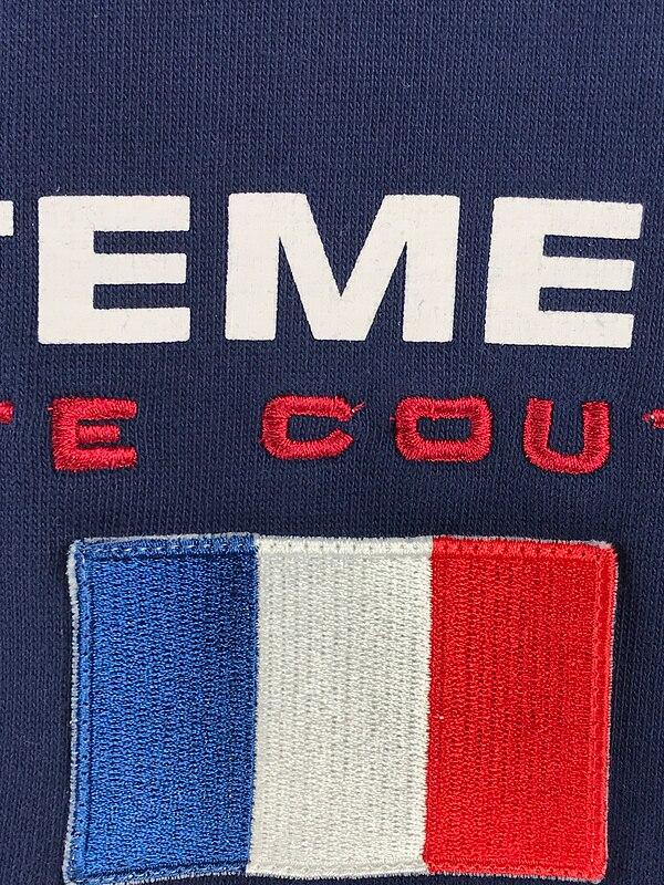 Meilleure qualité 1:1 VETEMENTS femmes hommes France drapeau broderie sweats à capuche Hiphop marque vêtements hommes femmes sweat à capuche en coton pull - 4