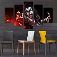 Hot Selling 5 Panels Movie Charactor Printed Cancas Painting High Quality Sets Wall Pictures Home Decor