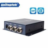 Realtime Video Recorder SD Card 5MP 4MP AHD Auto Car Bus Mobile DVR 2CH Digital Video