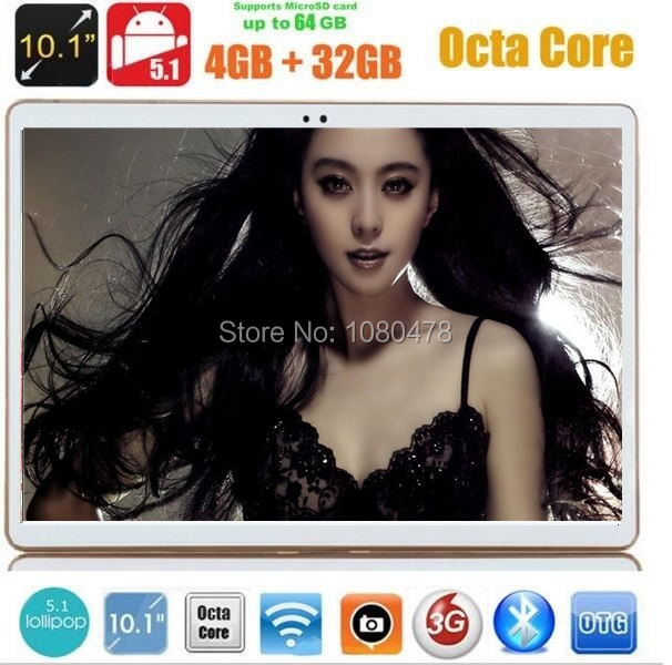 10 inch 3G 4G tablet Octa Core 1280*800 IPS 5.0MP 4G RAM 32GB ROM Android 5.1 Bluetooth GPS 10.1 tablet pc +Gifts DHL Free