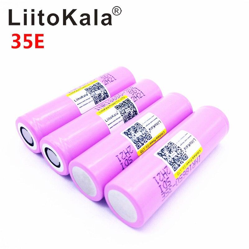 Liitokala para 18650 3500 mAh 13A descarga INR18650 35E INR18650-35E 18650 batería Li-ion 3,7 V batería recargable