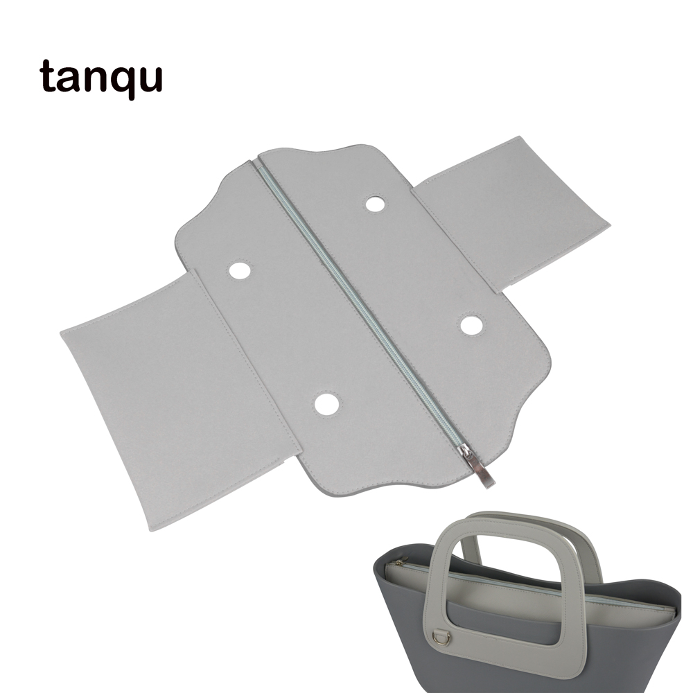 Tanqu PU Leather  Classic Mini  Zip Top Street False Inner Lining Insert For Obag Standard Mini O Bag Women's Handbag Accessory