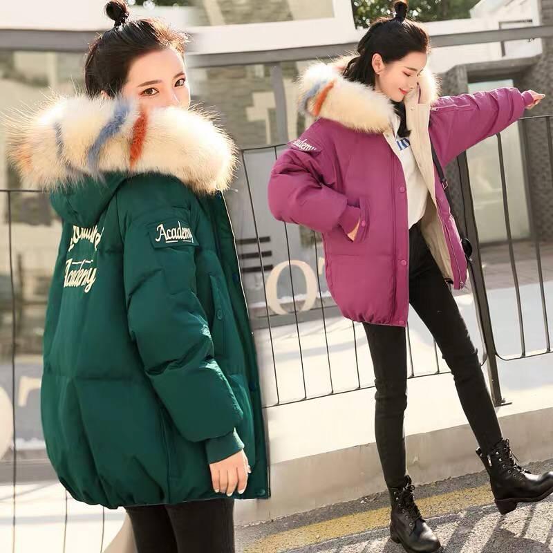 Capuche Manteau Mode Green Coton Chaud Automne Grande Survêtement black Solide Parkas Veste Col À De D'hiver Cw149 Épais beige Nouveau 2018 Taille Fourrure Femmes purple nZ1Av6v