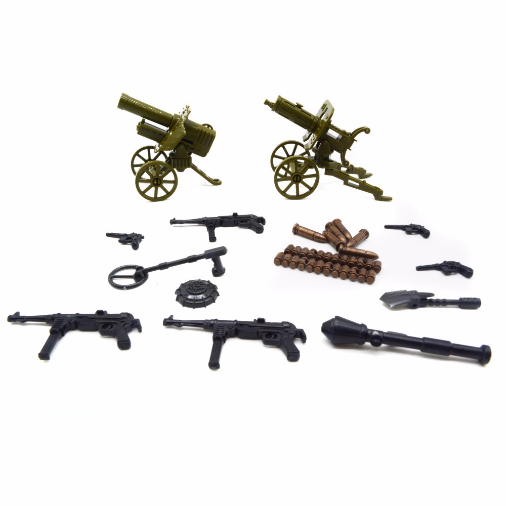 Koolfigure World War 2 Artillery,Guns,Mine Sweeper Weapons Pack Designed for Military So ...