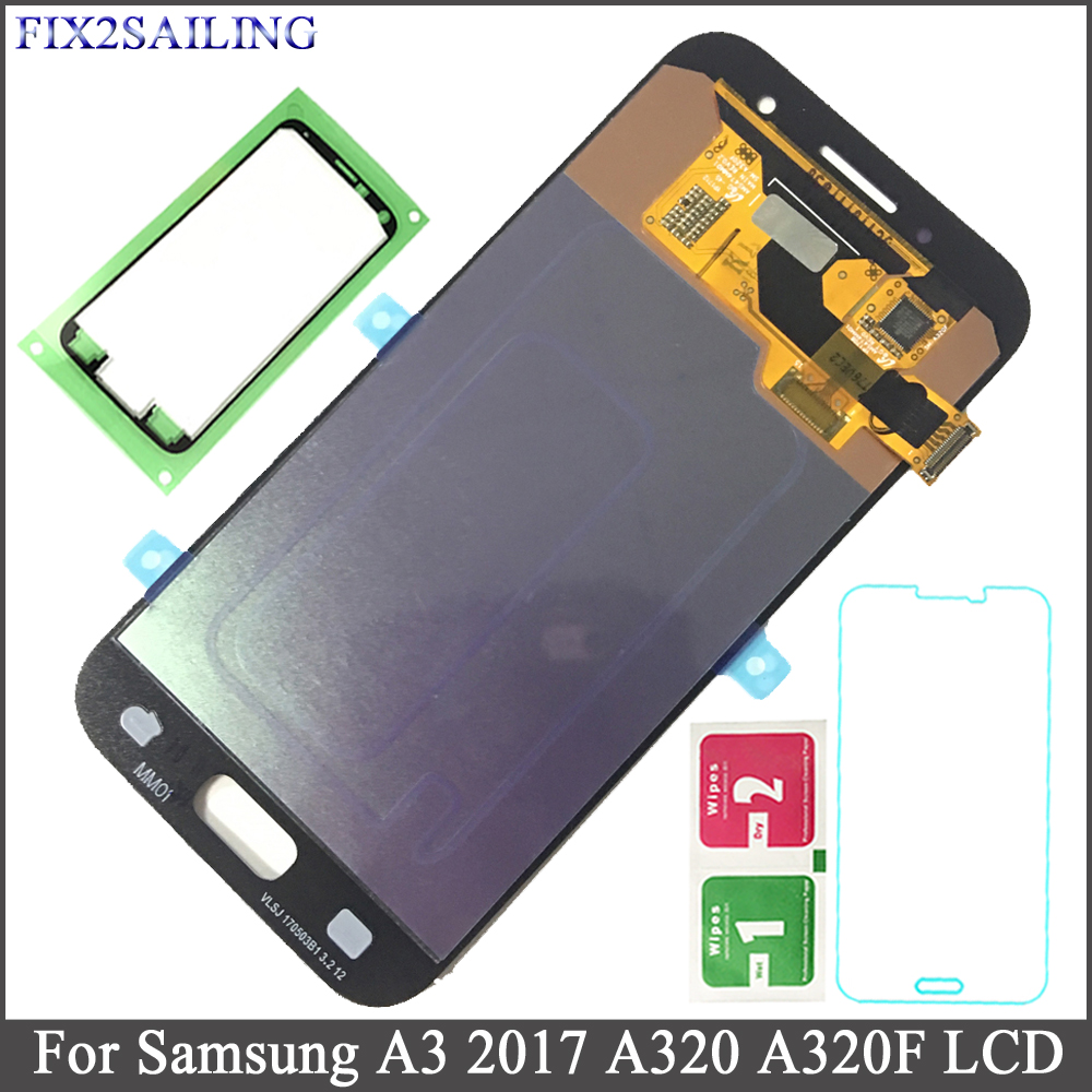 FIX2SAILING AMOLED LCD For Samsung Galaxy A3 2017 A320 A320M A320Y SM-A320F A320FD LCD Display Touch Screen Digitizer AssemblyFIX2SAILING AMOLED LCD For Samsung Galaxy A3 2017 A320 A320M A320Y SM-A320F A320FD LCD Display Touch Screen Digitizer Assembly