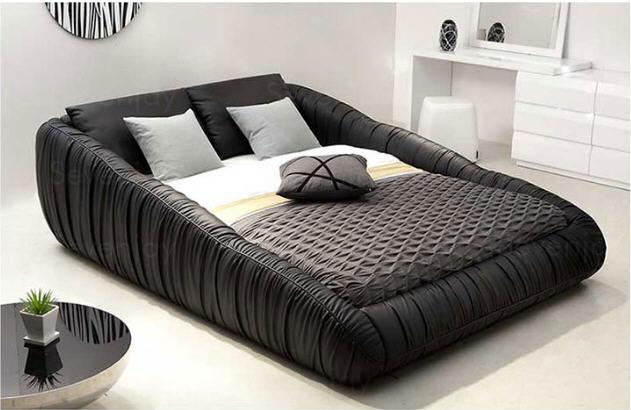 Real Genuine Leather Bed Frame Modern Soft Beds With Storage Home Bedroom Furniture Cama Muebles De Dormitorio / Camas Quarto