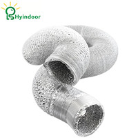 6 Inches x 33ft Aluminum Plumbing Hose Foil Ventilation Flexible Tube Exhaust Pipe Diameter Fan Ducting Duct in10 Meter