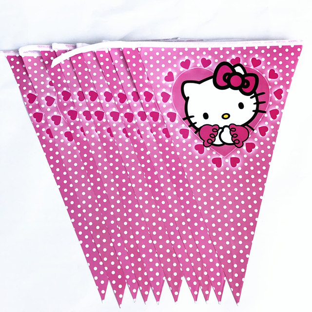 Hello Kitty Baby Shower Favors Supplies Party Pennant Bunting