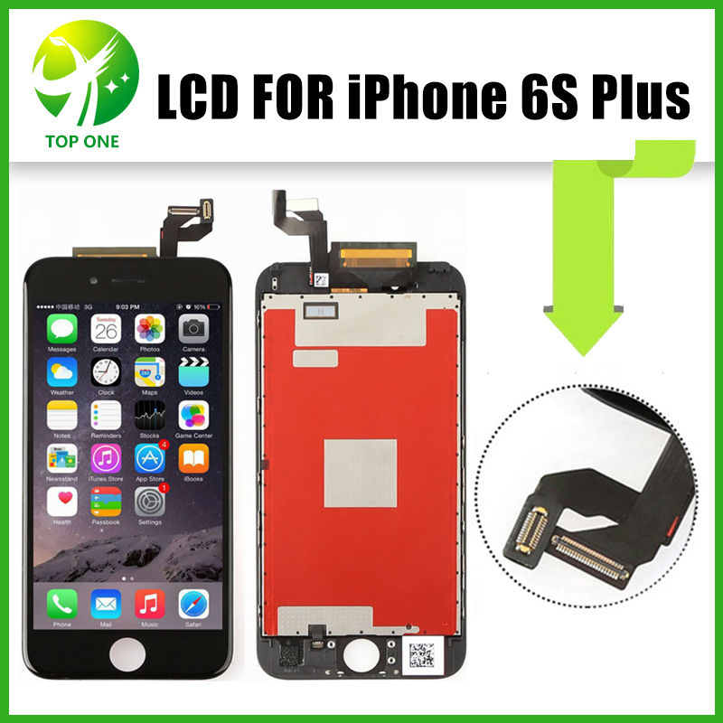 ФОТО 3pcs OEM AAA Quality For iPhone 6S Plus LCD Screen Display 5.5 inch With Touch Digitizer Assembly Replacement Parts