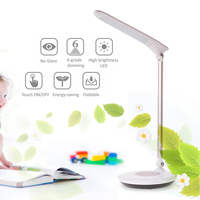 5.5W Led Desk Lamps For Reading Folding Clip Table Lamps for Living Room Bedroom 6 Levels Adjustable Brightness Desktops Light