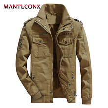 MANTLCONX New Winter Military Jacket Mens Army Men Thick Warm Casual Outwear Jackets Pilot Bomber M-6XL