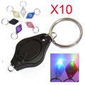 10pcs/lot  Mini LED Flashlight Torch Light Lamp Keychain TB Sale