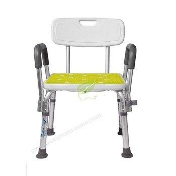 Toilet Foot Stool  Chair For Elderly Shower Chair Toilet Stool Portable Toilet Chair Aluminum Alloy Adjustable Height