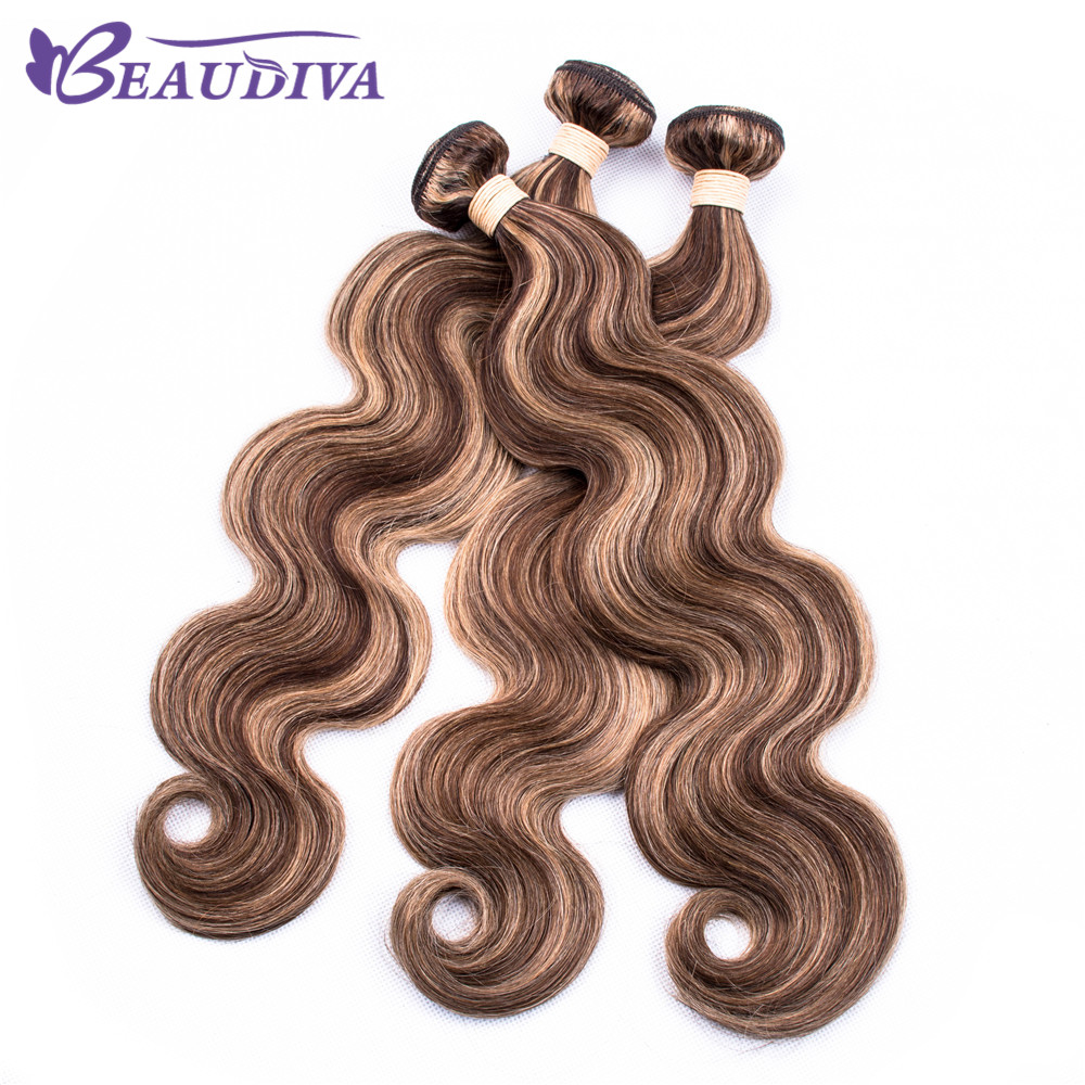 P4 27 Brazilian Body Wave Hair Bundles 100 Human Hair Weave 3 4pcs BEAUDIVA Remy Hair
