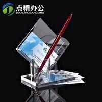 الأزياء الاكريليك عرض موقف حامل بطاقة الأعمال المكتبية البلاستيكية مكتب الجرف حامل بطاقة حالة تخزين مربع مربع اثنين layerscard