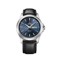 Наручные часы Swiss Military SMP36040.07 мужские кварцевые на кожаном ремешке
