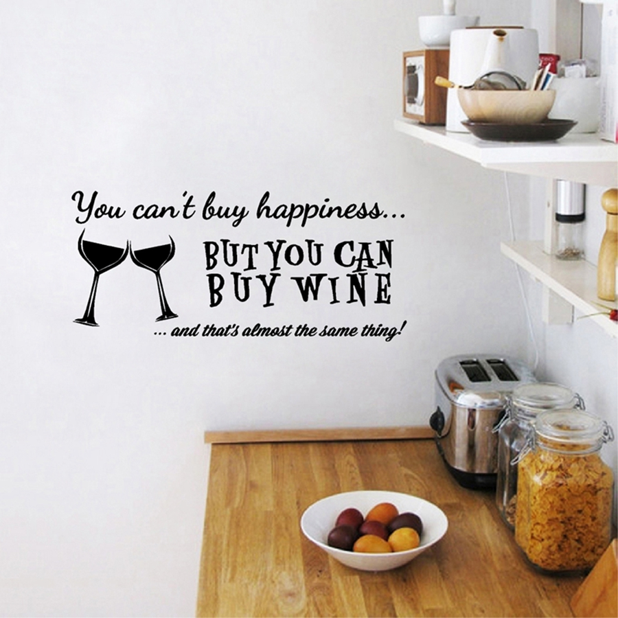 You Cant Buy Happiness But You Can Buy Wine Vinyl Wall