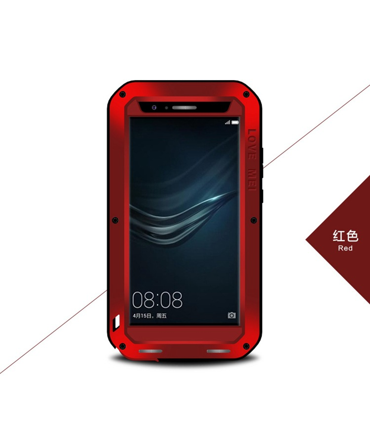 original Love Mei Waterproof case for huawei p9 p9 plus Metal Aluminum cover phone cases for