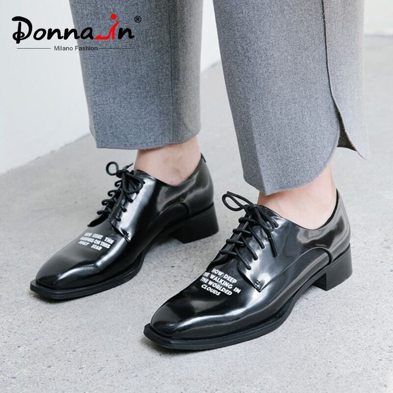 Donna in 2020 Autumn Flats Shoes Women Genuine Leather Casual 