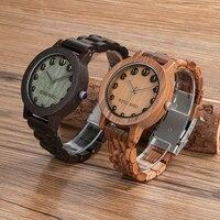 BOBO BIRD Luxury Designer Watches Men Style Wooden Watch Wood Strap Wristwatch With Paper Gift Box