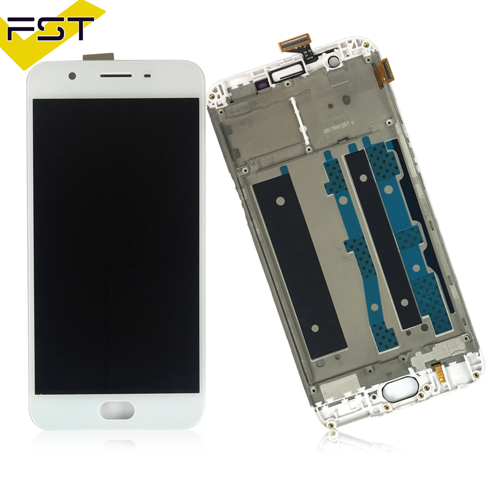White 5.5 inch LCD For <font><b>OPPO</b></font> F1s A59 <font><b>A1601</b></font> LCD Display Touch Screen Digitizer Assembly With Frame Spare Parts +Tools image