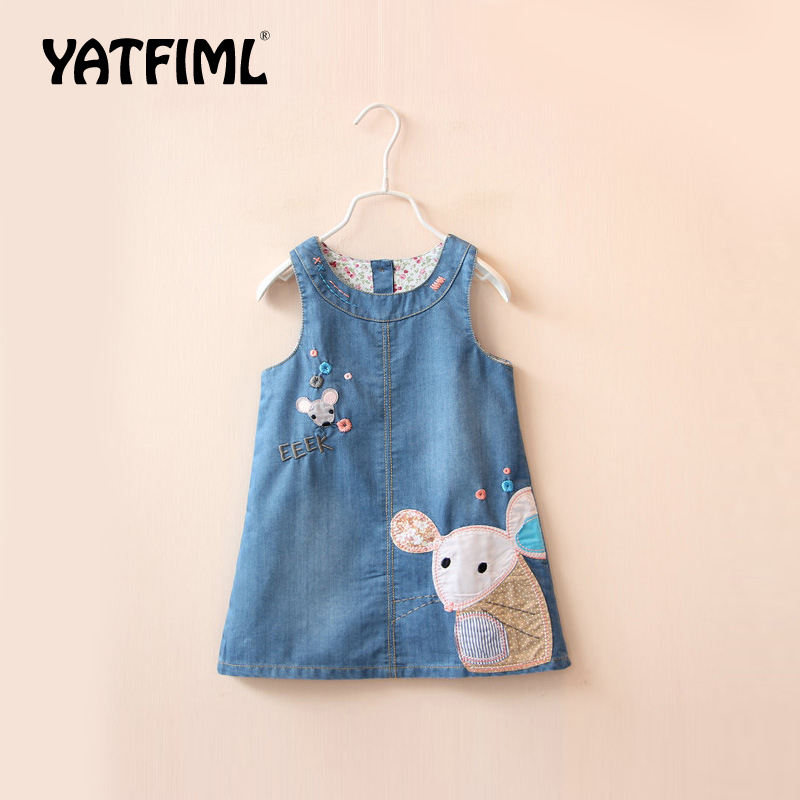 d0ff5c38d YATFIML Summer Baby Girls Dress Girls Jeans Dresses Overalls Stars Printed  Bib Denim Skirts Toddler Kids Clothing Bebe Clothes-in Overalls from Mother  ...