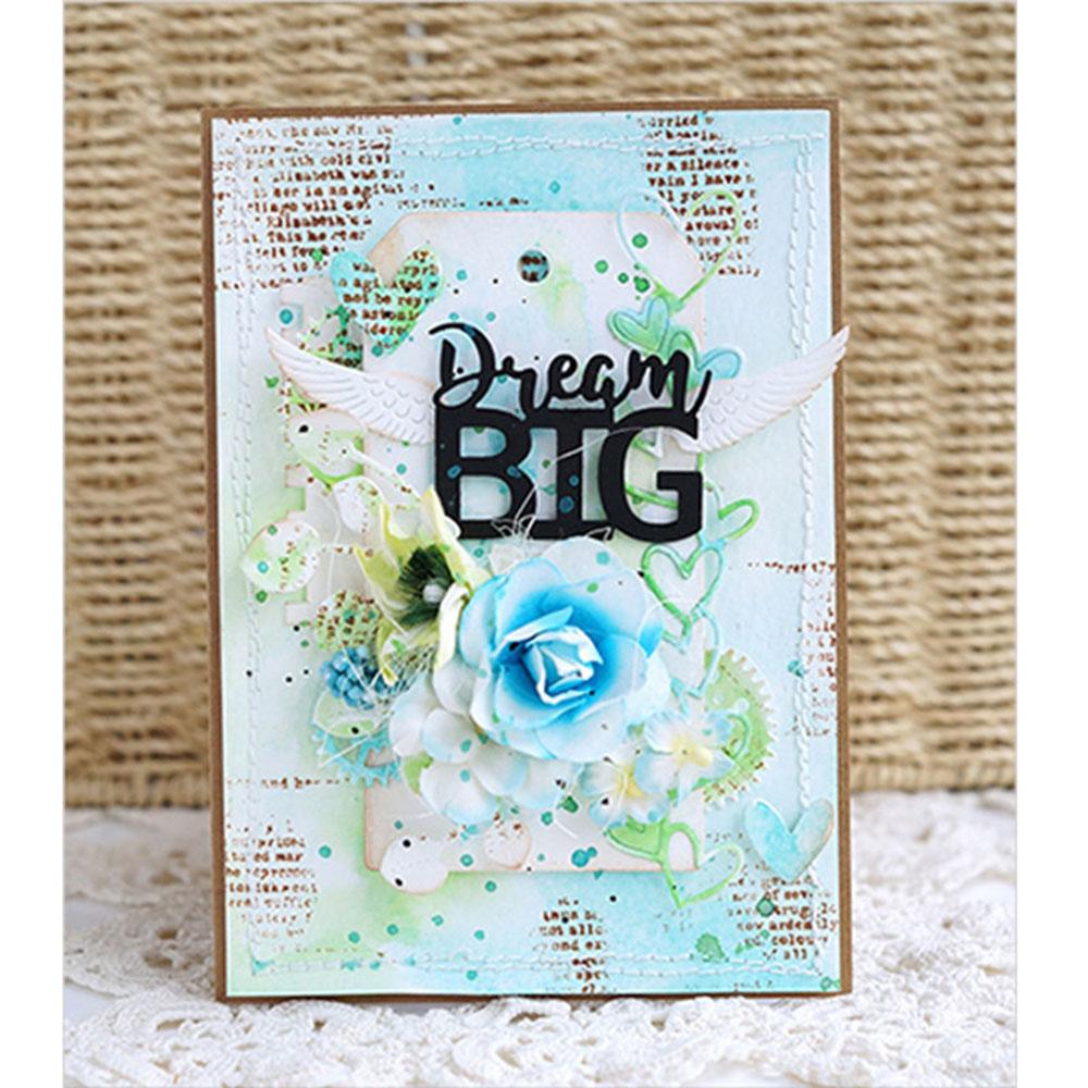 words cutting dies diy paper card making photo album