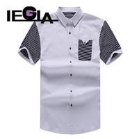 Shirts Man Fashion Cotton Mens Clothes Casual Shirt White Khaki 6XL 7XL 8XL Short Sleeves Dress Shirt for Men
