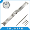 18mm 20mm 22mm Stainless Steel Watch Band +Tool for Longines L2 L3 L4 Master Conquest Butterfly Buckle Strap Wrist Belt Bracelet