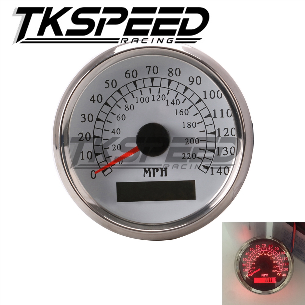 Free shipping GPS Speedometer Marine / Auto 140 MPH 3-3/8/86mm Red LED light, 316L SS кольцо opk 316l aaa 3 gj447