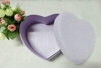 Grado superiore vendita calda, 2 pz/set luce a forma di Cuore fiore viola box, cioccolato, profumo di imballaggio box, scatola regalo di giorno di san valentino