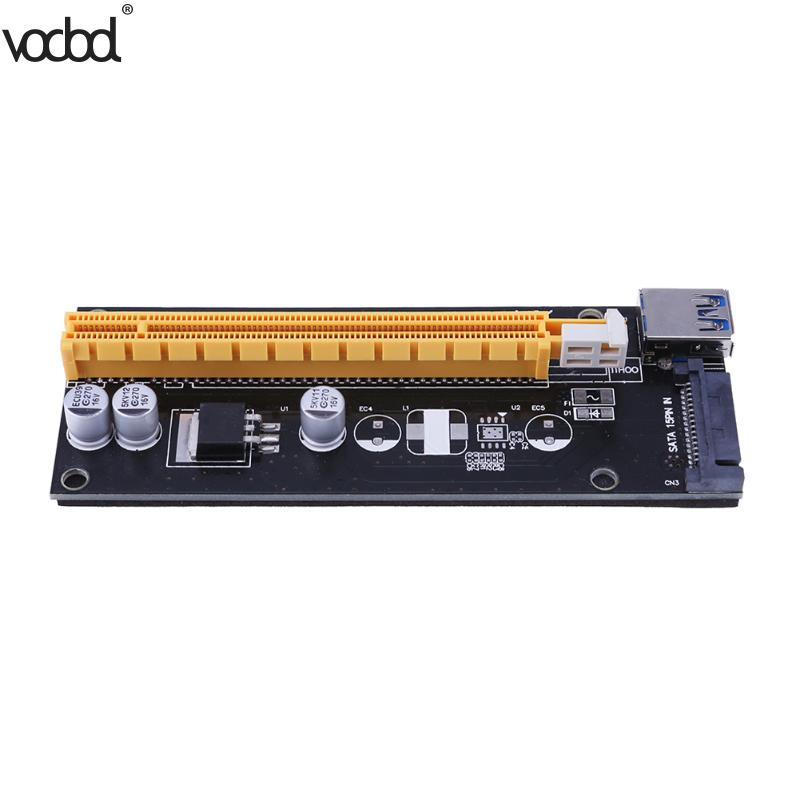 VER007S 60cm PCIE Riser PCI E Express 1x to 16x Graphics Card Riser Extender Adapter For Bitcoin BTC Miner Machine 15pin sata pci e riser pcie express 1x to16x extender riser adapter mining card with 60cm usb 3 0 cable for btc ltc eth miner