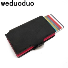 Weduoduo 2019 New  Credit Card Holder Business Men Holders Fashion RFID Cases Automatical Aluminium Bank Wallets