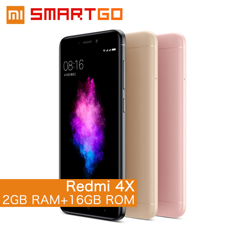 Original Xiaomi Redmi 4X Mobile phone 2GB RAM 16GB ROM Snapdragon 435 Octa Core CPU 5.0 13MP Camera 4100mAh