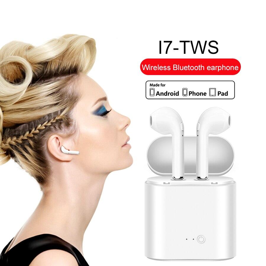 i7 TWS Mini Wireless Bluetooth Earphone Music Sport Headset In-Ear Earbud Handsfree Earpiece With Mic For iPhone Samsung Xiaomi smochm true wireless bluetooth v4 2 music phonecall single earbud earphone headset for iphone xiaomi huawei samsung