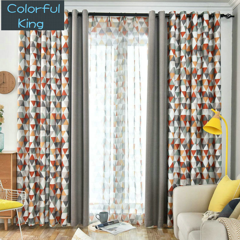 Blackout Curtains for Kitchen Living Room Bedroom Patchwork Curtains Window Treatment Curtain Sheer Drapes Shading Rate 90%