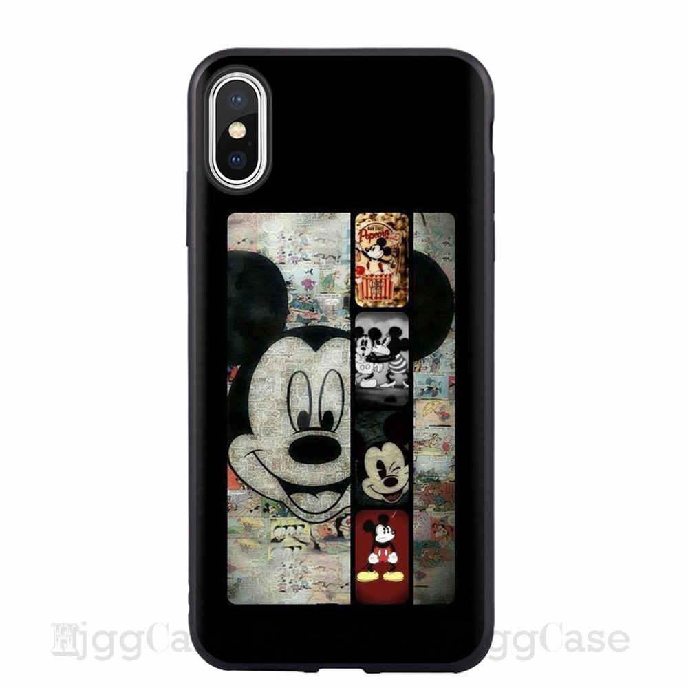 Caso dos desenhos animados Mickey Minnie Para o iphone Capa Para iPhone 6 7 8X7 6 s Plus XR XS MAX pato Donald Daisy bonito Macio TPU Fundas