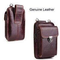 Genuine Leather Pouch Shoulder Belt Mobile Phone Case Bags For Asus Zenfone Max Plus (M1),Zenfone 4 Pro/4 Max ZC520KL ZC554KL