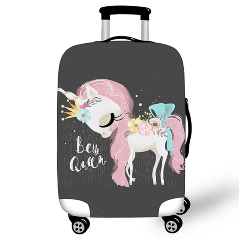 Elastic Luggage Protective Covers 18-32 Case For Suitcase Protective Cover Suitcase Cases Covers Travel 3D Accessories Unicorn T
