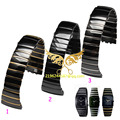 Free shipping Watches accessories 26 mm ceramic watchbands Suitable for radar Sintra silver drill series for Men