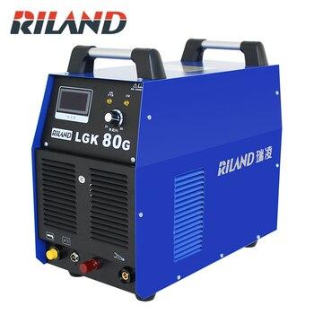 Riland lgk 80g 380 v ar plasma cortador trifásico máquina de corte plasma soldador