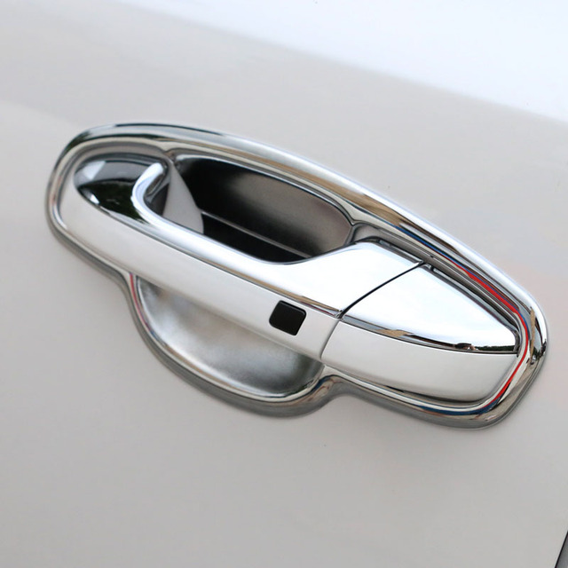 Chrome Door Handle Bowl Cover For Kia Sportage 2017 2018 Cup Cavity Trim Insert Catch Molding & Chrome Door Handle Bowl Cover For Kia Sportage 2017 2018 Cup Cavity ...