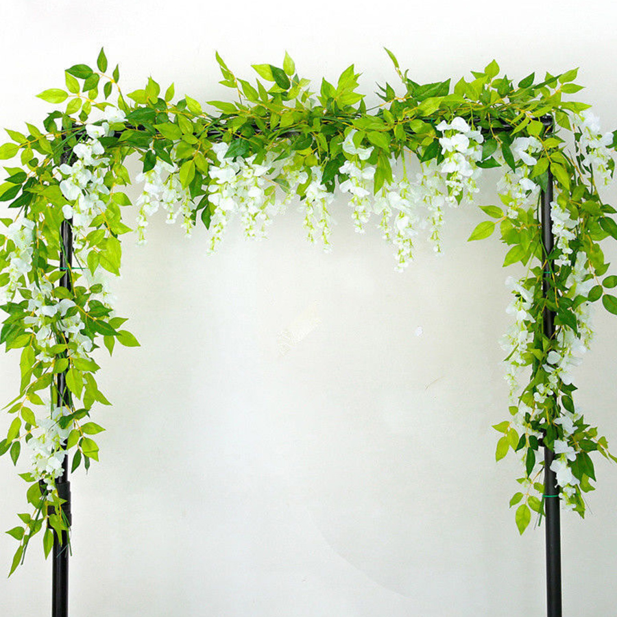 2M Wisteria Artificial Flowers Fake Plants For Wall And Indoor Decoration 3