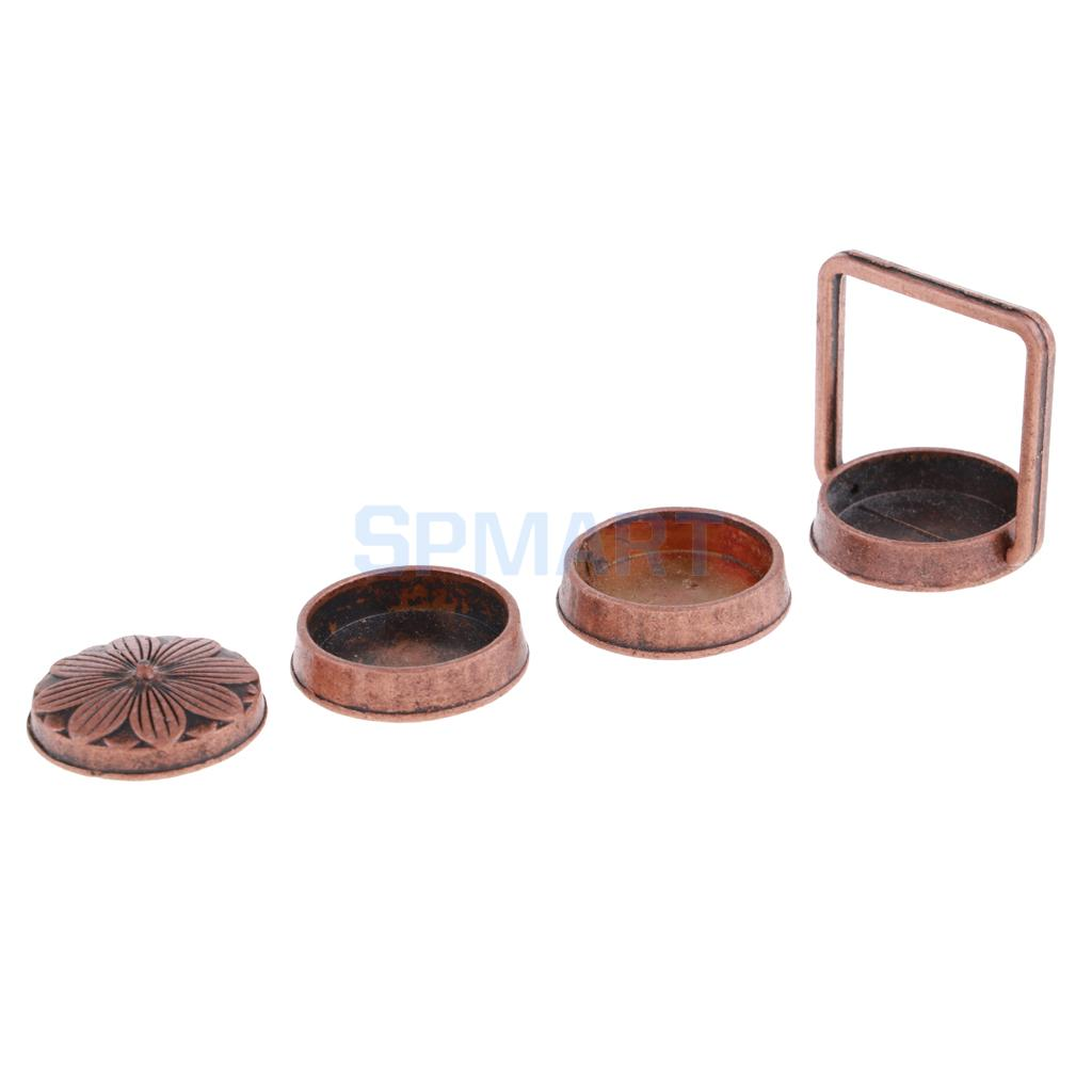 Miniature Copper 3 Layer Lunch Box 1//12 Dollhouse Life Scenes Accessories