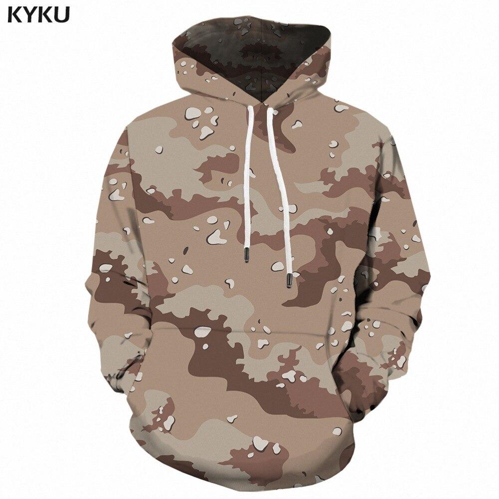 KYKU gris Camo à capuche hommes Camouflage sweat Harajuku 3d sweats à capuche imprimés Anime vêtements rétro militaire hommes vêtements automne