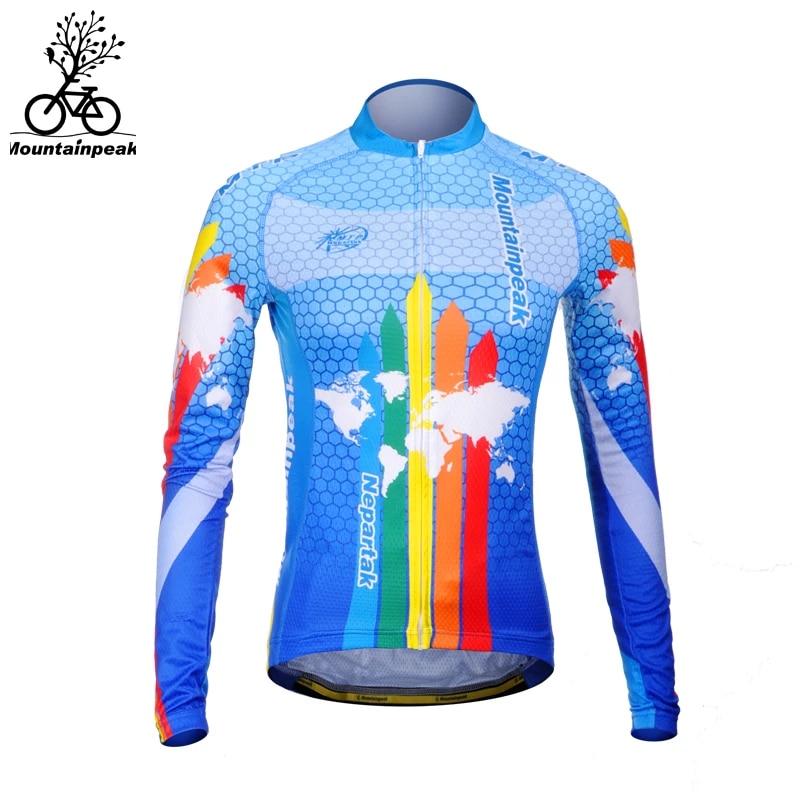 Windproof Cycling Jersey MTB Bike Long Sleeve Shirt Workout Sports T-Shirt