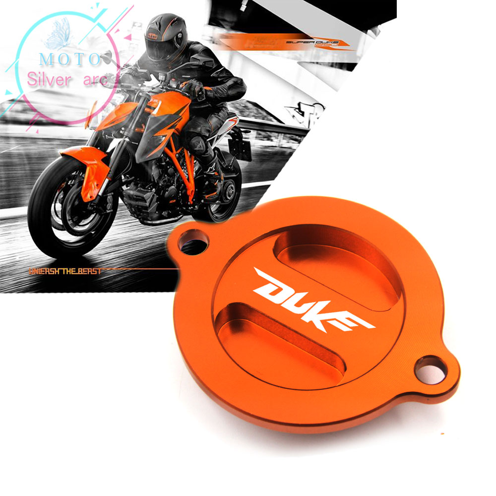 For KTM 125 200 390 690 Duke RC 200 390 Motorcycle Accessories CNC Engine Oil Filter Cover Cap for ktm logo 125 200 390 690 duke rc 200 390 motorcycle accessories cnc engine oil filter cover cap